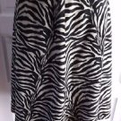 Betsey Johnson New York Zebra Animal Print Faux Fur A-Line Swing Skirt Womens 10