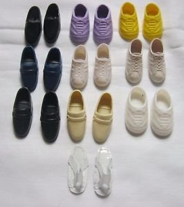 Vintage Mattel Ken Doll Shoes Lot Loafers Sneakers Sandals 10 Pairs Hong Kong