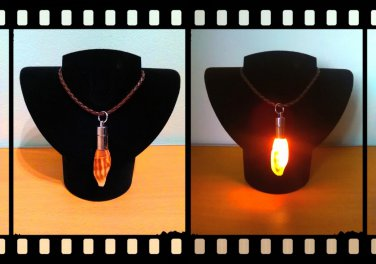Handmade Real Seashell Light Necklace with Free Delivery (Mitra Eremitarum)