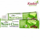 Kudos Ayurveda Neem+Clove Toothpaste -Makes teeth white-100Gms