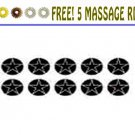 Sujok Small Ayurved Star Magnet (Set Of 10) With Free 5 Acupressure Rings