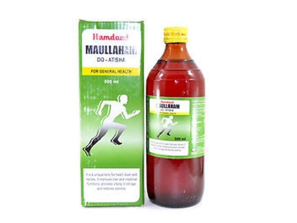 100% Natural Hamdard Unani Herbal Maullaham Do Atisha -500ml - Free Shipping