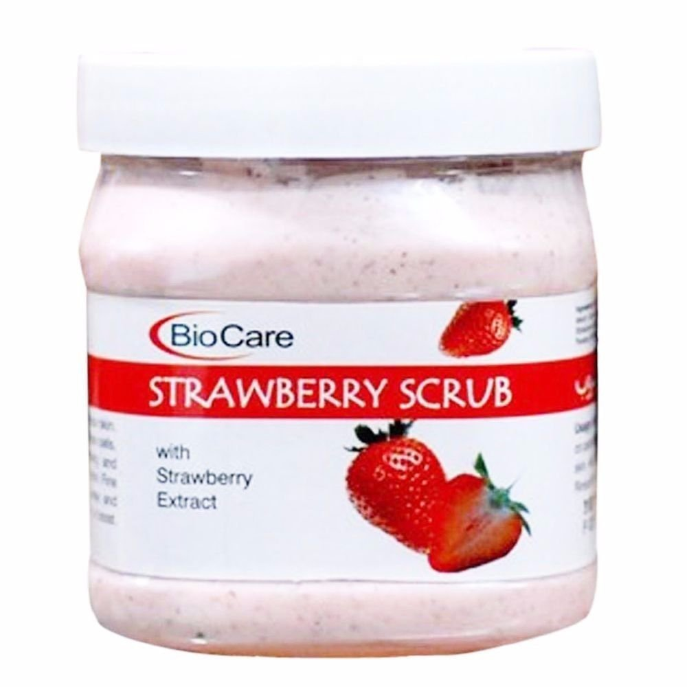 Pack Of 500G Biocare Strawberry Scrub-Marks &Spots Removal-Free Shipping