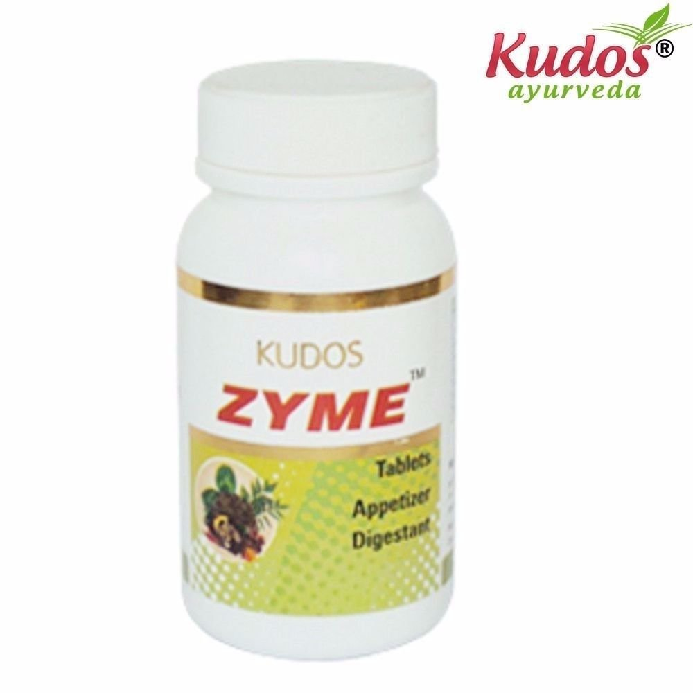KUDOS Zyme Tablets - 100 Tablets - Pure Herbal