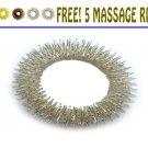 Sujok (Su Jok)Three Finger Ring Massager 2Pcs-Acupressure Therapy Pain Reliever