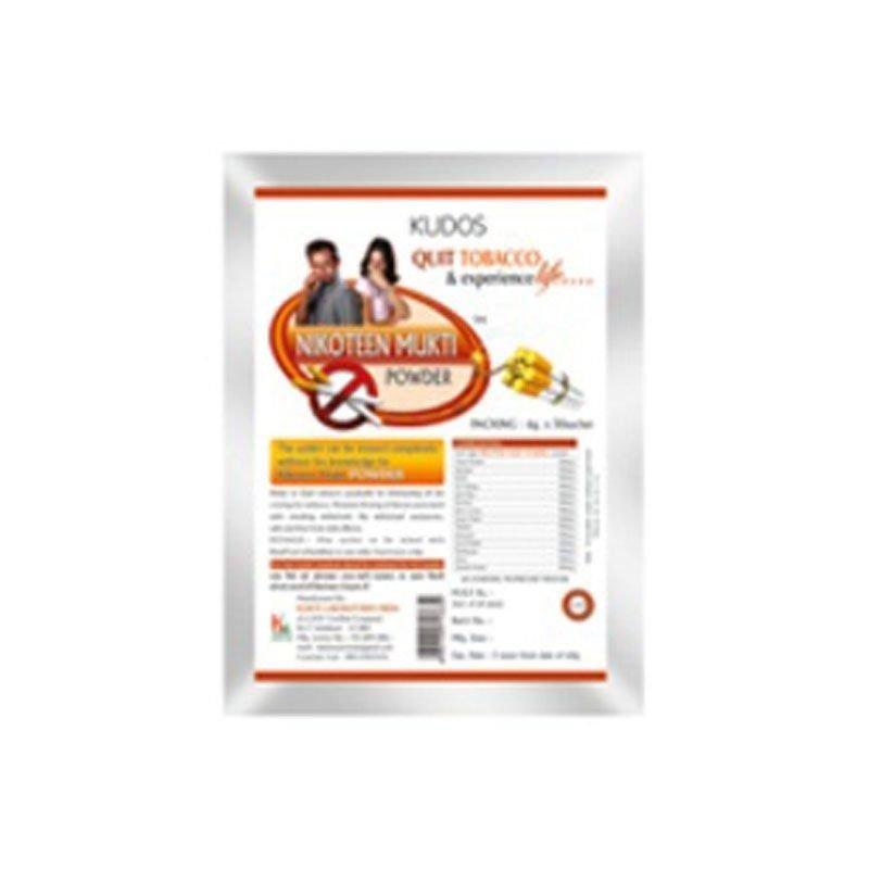 KUDOS Nikoteen Mukti Powder - Helps In Quitting Tobacco - 6g X 30 Sachet