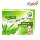 Kudos Neem and Aloe Vera Soap -100% Pure Natural - 75gm