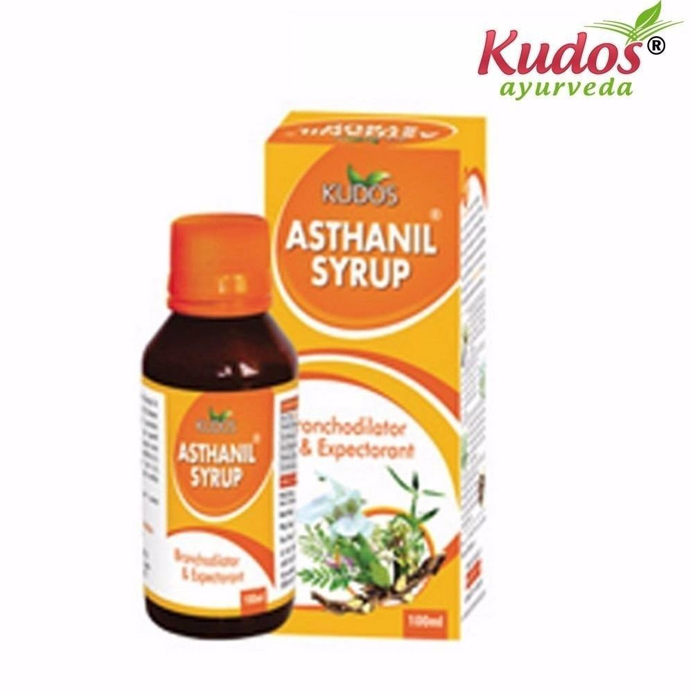 Kudos Pure Natural Herbal Product Asthanil Syrup - 100ml