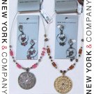 NWT $88 Wholesale Lot NEW YORK & COMPANY Fashion Jewelry Necklaces Earrings NEW