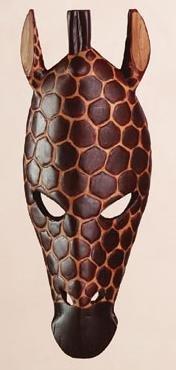 Giraffe Mask Wall Hanging
