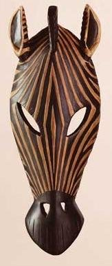 Zebra Mask Wall Hanging