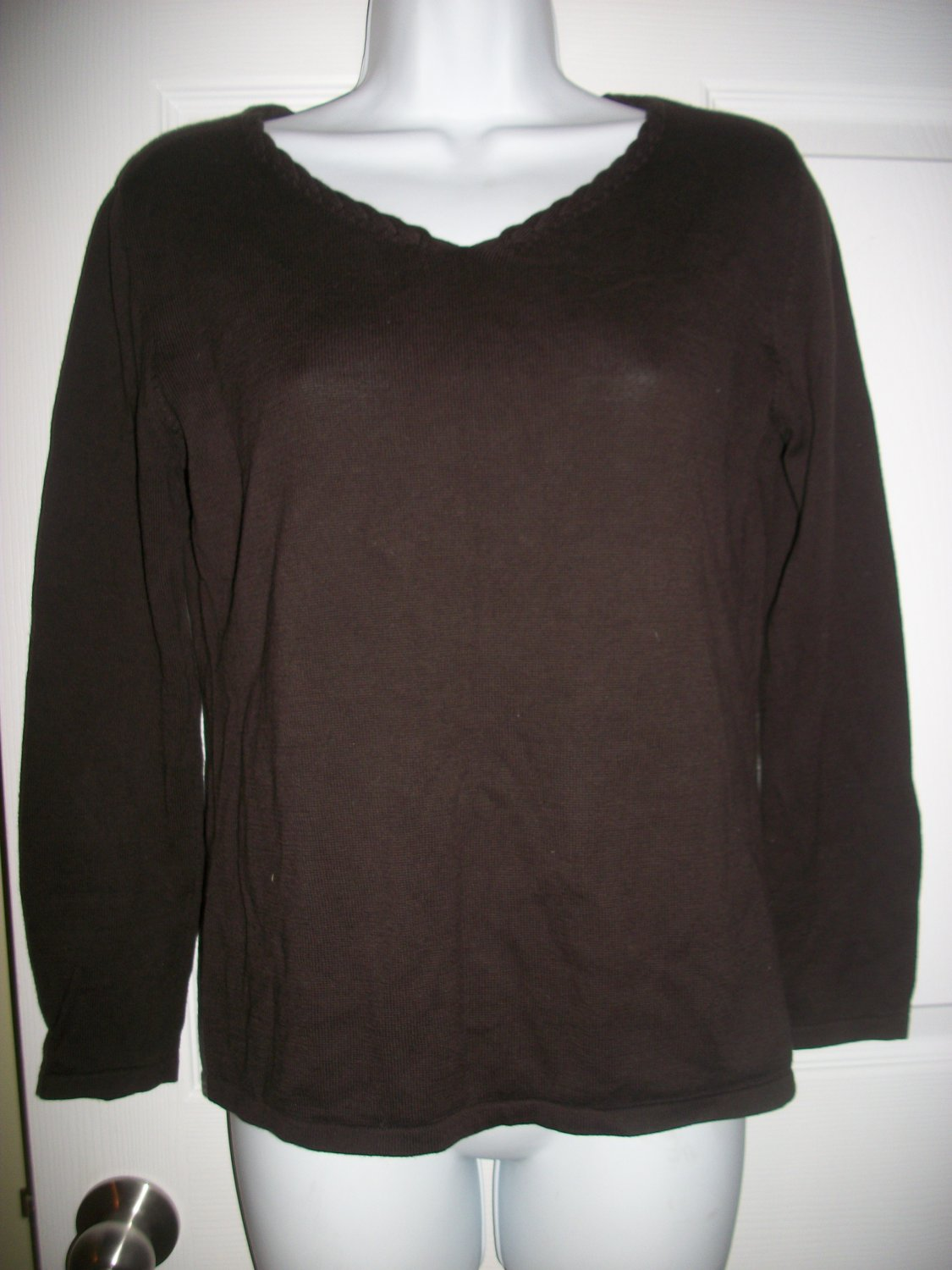 J.. Jill Women's Brown Lightweight Sweater Size S