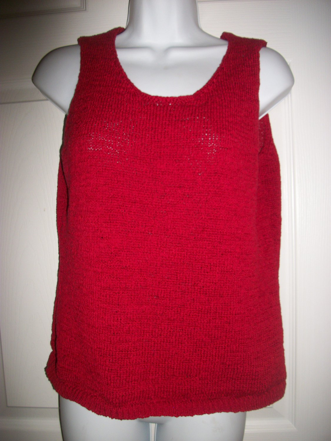 Coldwater Creek Women's Red Sleeveless Sweater Size M