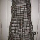Appraisal Women's Black & White Plaid Silk Lined Sleeveless Dress Size 12