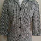 Dina Ariel womens buttom down shirt top size M black & white
