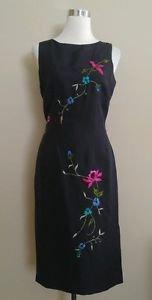 David warren new york womens casual dress size 8 black 1-027
