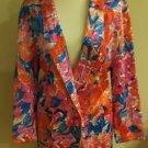 Vintage 80s baronesa womens blazer top size M floral