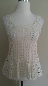 Candies womens embroidered tank top size s ivory