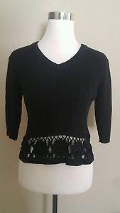 Xhilaration womens knit sweater top size L black