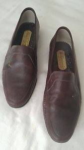 Alexander mens dress shoes Colombian leather size 9.5 dark burgundy