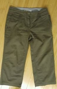 Tommy hilfiger womens casual pant size 4 waist 32 green