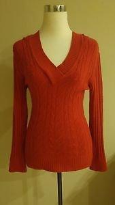 American rag cie womens hoddie sweater top size M red