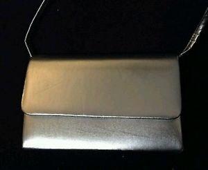 vintage womens purse handbag silver