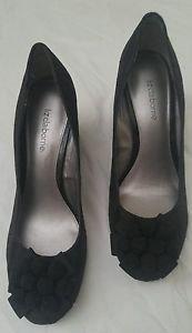 Liz claiborne zail fabric womens shoes heel wedding prom bridalsize 7.5 M black