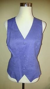 Vintage james river traders womens vest size L lilac