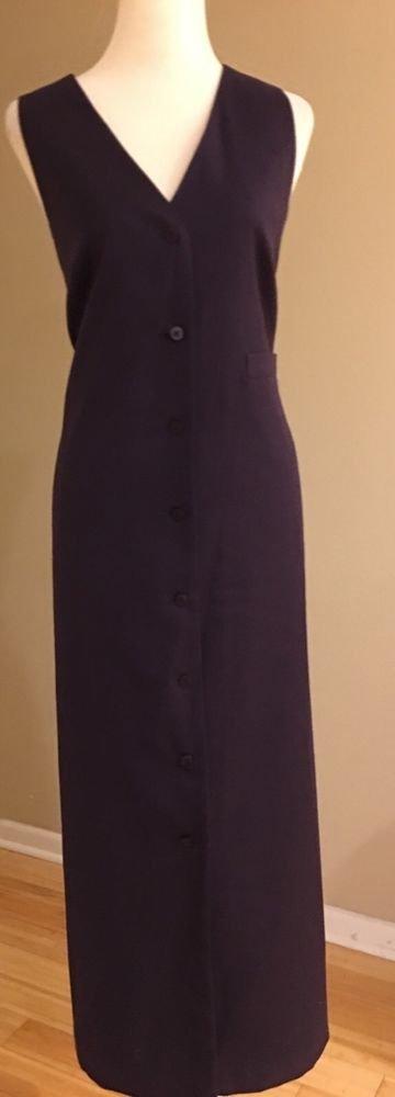 Harve bernard womens sleeveless button dress size 14 purple