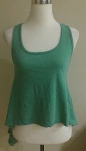 Threads 4 thought womens top tank embroidery size XS green