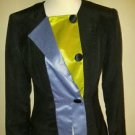 Vintage fashion by erika womens suit jacket blazer size S black