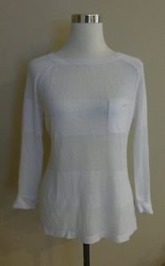 NWT Cyrus womens t-shirt top long sleeve size M white