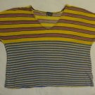 Urban outfitters sparkle & fade womens shirt blouse top stripes tee size M
