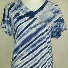 B u m equipment womens blouse tee top size XL blue