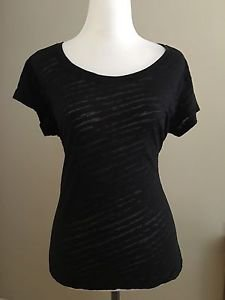 Mix CO. womens tee top shirt size L black