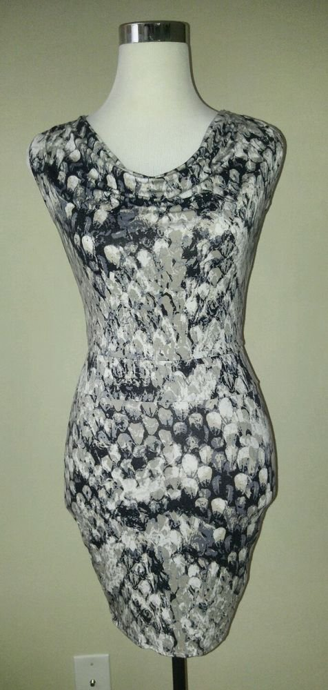 Fluxus stretch bodycon sleevesless womens dress top size S
