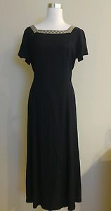 Studio I womens dress suit set size 6 black 1-025
