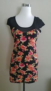 Forever 21 womens mini dress size L floral
