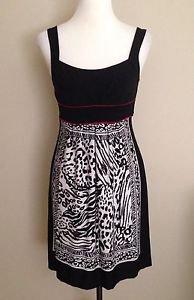 Enfocus studio womens shift tiered dress size 4 black