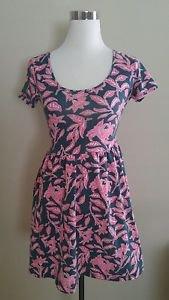 Forever 21 womens summer beach dress size M gray pink