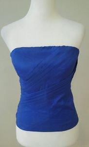 Leyvas strapless top womens size M blue