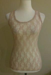 Xhilaration womens tank top blouse size XS beige
