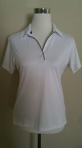 Jack nicklaus womens performance golf polo shirt size s white