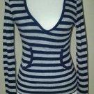Agua womens hoodie sweater top size M