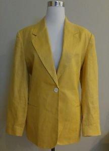 Talbots womens blazer top size 12 mustard 1-005