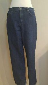 Basic editions womens classic fit jean denim size 12 waist 31 blue