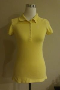AE american eagle omens polo top size M yellow