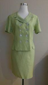 Skirt suit women lois snyder dani max size 10 green