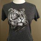 Busch Gardens tiger womens crop top tee size L gray
